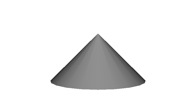 Cone Geometry <cone height='1'/>